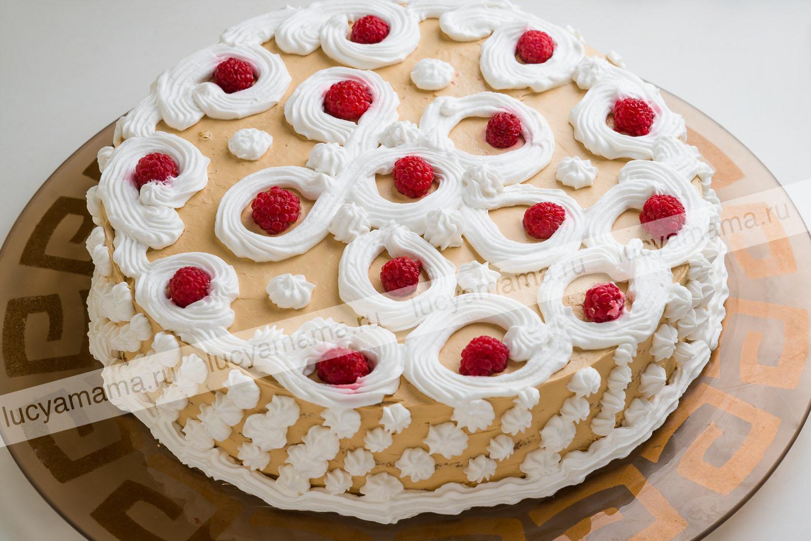 """Торт """"Домашний"""" с малиной"""