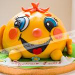 колобок, детский торт, день рождения, панчо, мастика