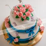 панчо, цветы, торт, розы