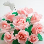 панчо, цветы, торт, розы, крупный план