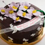 торт, прага, шоколадная глазурь, орхидеи