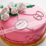 пионы, торт, торт юбилейный