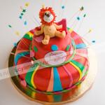 торт, детский торт, день рождения, львенок, цирк