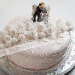 торт, свадебный торт, цветы, розы