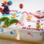 торт календарь, детский торт, день рождения, лунтик, мастика,