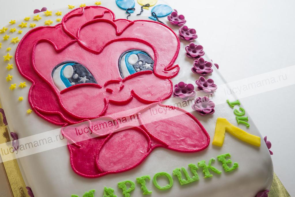 пинки пай, день рождения, ребенку, мастика, детский торт