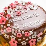 торт, цветы, мастика, безе, грецкий орех, кокосовое молоко