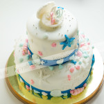 торт, мастика, свадебный, морской