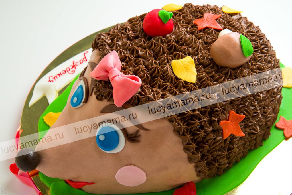 торт, мастика, ежик, детский