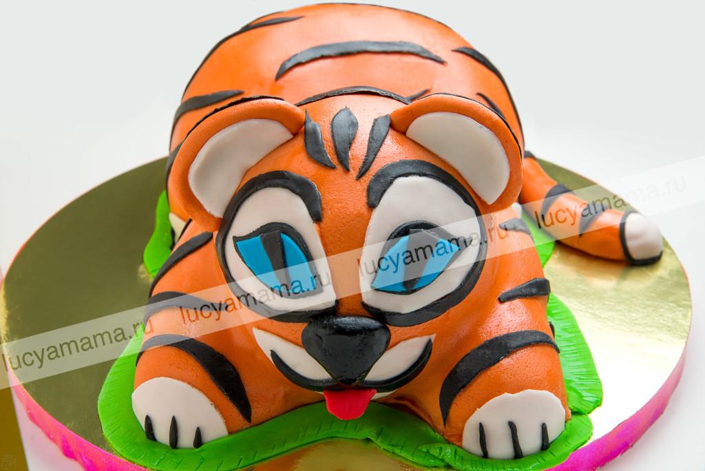 торт, детский, тигренок, мастика