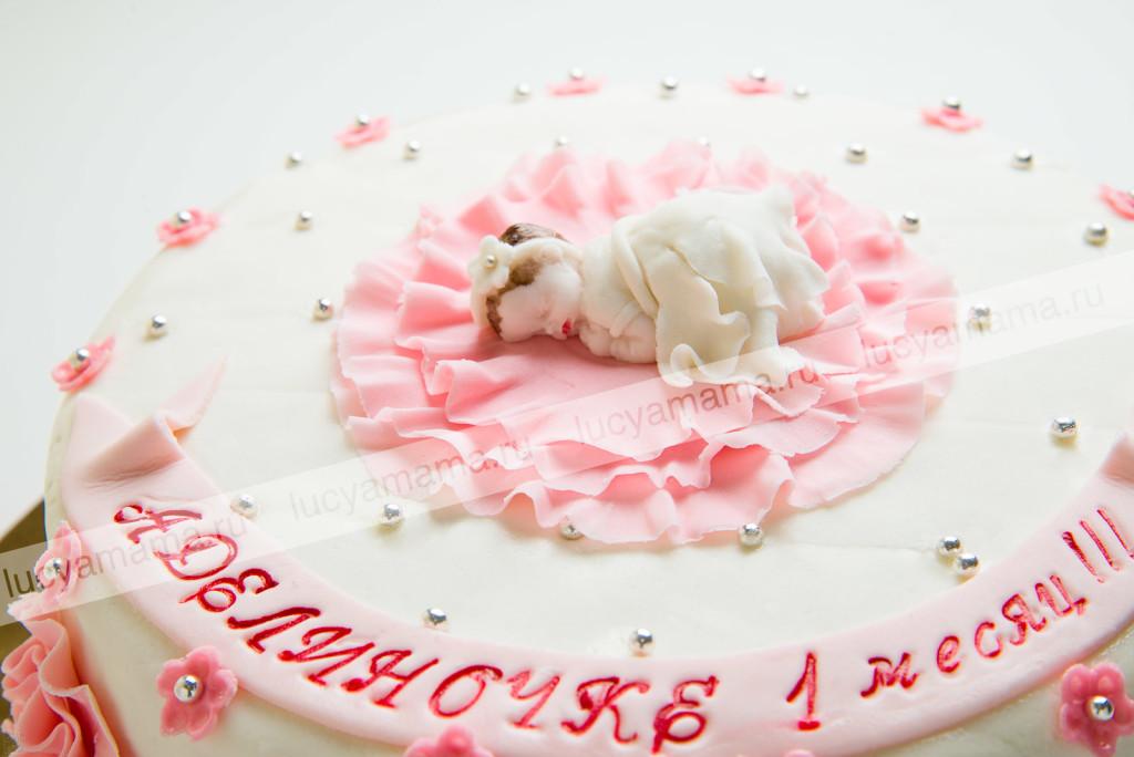 торт, мастика, детский, 1 месяц
