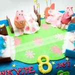 торт, свинка пеппа, бисквит