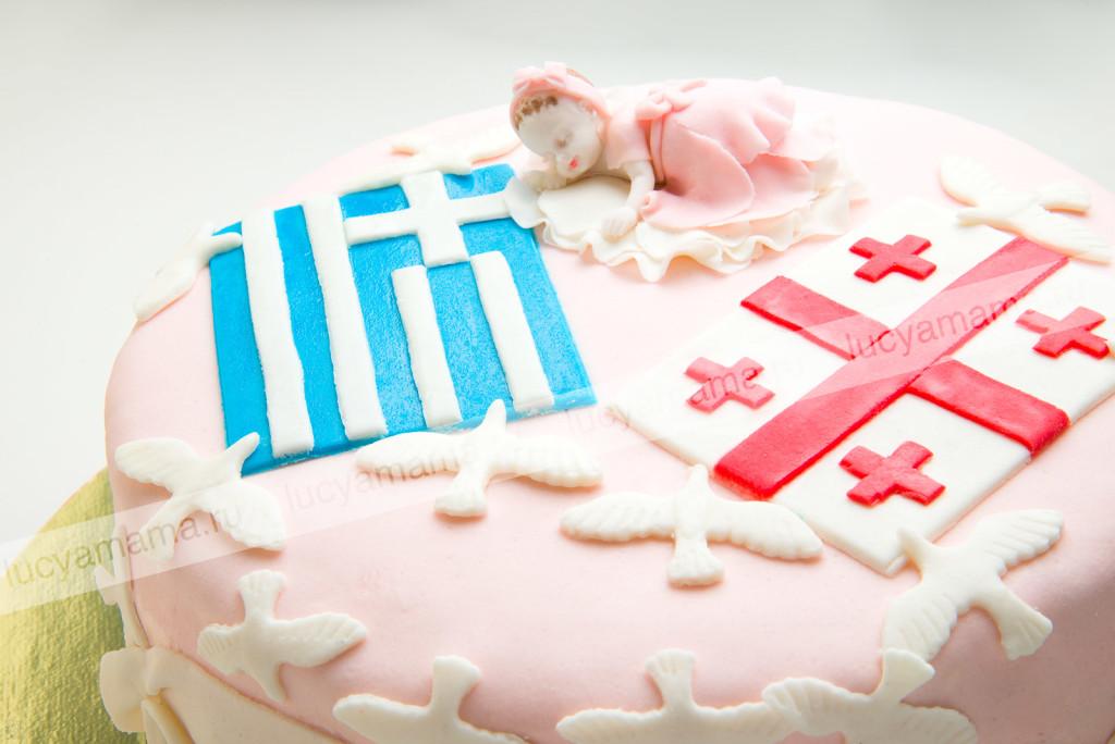 торт, флаги, грузинский, греческий, мастика, детский